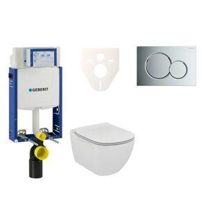 Závěsný set WC Ideal Standard Tesi + modul Geberit Kombifix s tlačítkem Sigma 01 chrom 110.302.00.5 NF2