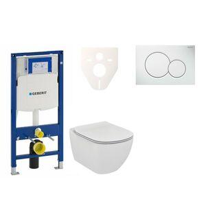 Závěsný set WC Ideal Standard Tesi + modul Geberit Duofix s tlačítkem Sigma 01 (bílé) 111.300.00.5 NF1