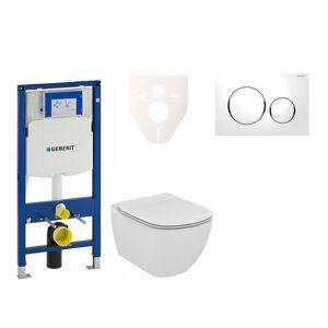Závěsný set WC Ideal Standard Tesi + modul Geberit Duofix s tlačítkem Sigma 20 (bílá/chrom lesk) 111.300.00.5 NF4