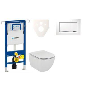 Závěsný set WC Ideal Standard Tesi + modul Geberit Duofix Speciál s tlačítkem Sigma 30 (bílá/chrom lesk) 111.355.00.5 NF5