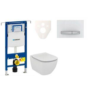 Závěsný set WC Ideal Standard Tesi + modul Geberit Duofix Speciál s tlačítkem Sigma 50 (alpská bílá) 111.355.00.5 NF8