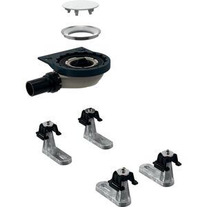 Geberit Setaplano - Sprchová odpadní souprava se 4 patkami, pro sprchovou vaničku Setaplano, výška vodního uzávěru 30 mm 154.020.00.1