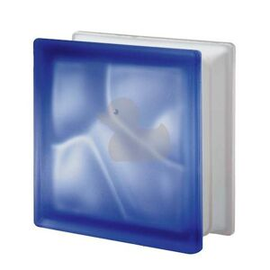 Luxfera Glassblocks blue 19x19x8 cm sklo 1908WBLUE2S