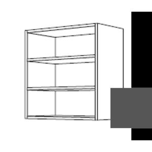 Kuchyňská skříňka horní Naturel Erika24 regál břidlicová šedá 194.WR1502