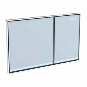 Geberit ovládací deska Sigma70, bílé sklo