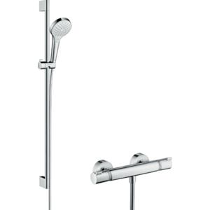 Sprchový systém Hansgrohe Croma Select S na stěnu s termostatickou baterií bílá/chrom 27014400
