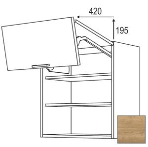 Kuchyňská skříňka horní Naturel Sente24 zlamovací 60x72x35 cm dub sierra 405.WFL601