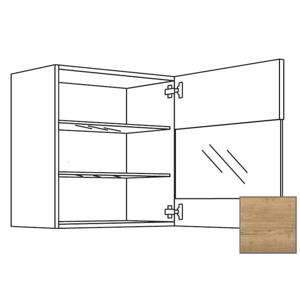 Kuchyňská skříňka horní Naturel Sente24 s dvířky 45x72x35 cm dub sierra 405.WGLS451R