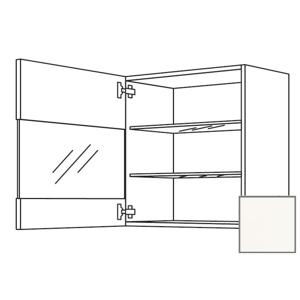 Kuchyňská skříňka horní Naturel Erika24 s dvířky 60x72x35 cm bílá lesk 450.WGLS601L
