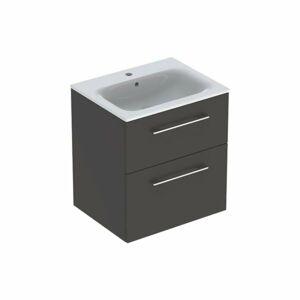 Koupelnová skříňka s umyvadlem Geberit Selnova 60x50,2x65,2 cm láva mat 501.237.00.1