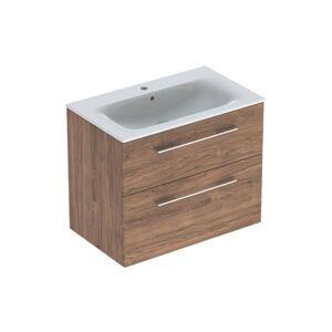 Koupelnová skříňka s umyvadlem Geberit Selnova 80x50,2x65,2 cm ořech hickory 501.242.00.1