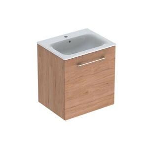 Koupelnová skříňka s umyvadlem Geberit Selnova 60x50,2x65,2 cm ořech hickory světlý 501.255.00.1