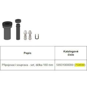 PE připojovací souprava DN80/d90 180mm 758699