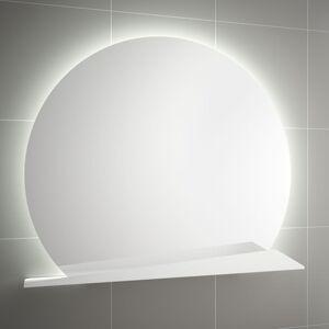 Zrcadlo s poličkou Salgar 80x80 cm bílá 83965