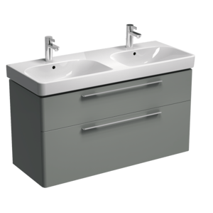 Koupelnová skříňka pod umyvadlo KOLO Traffic 116,8x62,5x46,1 cm platinově šedá 89442000
