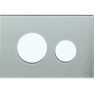 Kryt ovládacího tlačítka Tece Loop sklo šedostříbrná 9240676