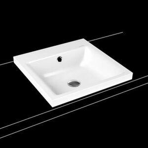 Umyvadlo na desku Kaldewei PURO 46x46 cm alpská bílá bez otvoru pro baterii 900306003001