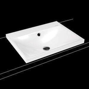 Umyvadlo na desku Kaldewei Silenio 3040 60x46 cm alpská bílá bez přepadu 903906273001