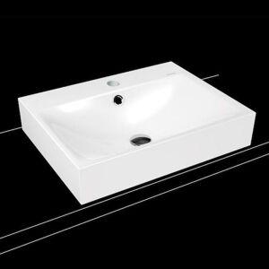 Umyvadlo na desku Kaldewei Silenio 3042 60x46 cm alpská bílá otvor pro baterii uprostřed 904106013001