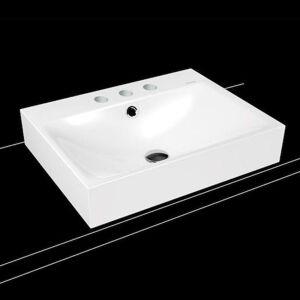 Umyvadlo na desku Kaldewei Silenio 3042 60x46 cm alpská bílá tři otvory pro baterii 904106033001