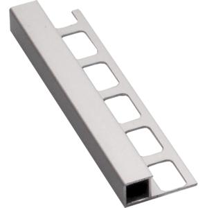 Lišta ukončovací hranatá hliník elox stříbrná, délka 250 cm, výška 12,5 mm, ALEH12250