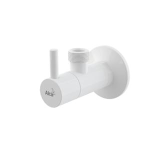 "Ventil rohový s filtrem 1/2""×1/2"", kulatý, bílá"