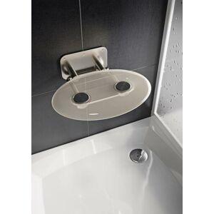 Sprchové sedátko Ravak OVO P sklopné š. 41 cm čirá B8F0000048