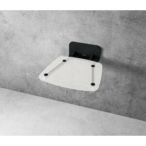 Sprchové sedátko Ravak OVO B sklopné š. 36 cm čirá/černá B8F0000059