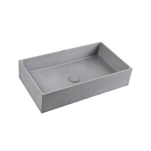 Umyvadlo na desku Triomini Cemento 64x36,5 cm šedá mat bez přepadu CEM6437S