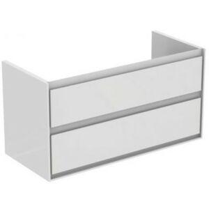 Koupelnová skříňka pod umyvadlo Ideal Standard Connect Air 100x44x51,7 cm bílá lesk/světle šedá mat E0821KN