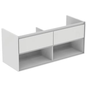 Koupelnová skříňka pod umyvadlo Ideal Standard Connect Air 120x44x51,7 cm šedý dub/bílá mat E0829PS
