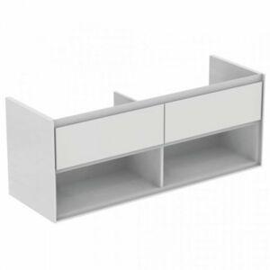 Koupelnová skříňka pod umyvadlo Ideal Standard Connect Air 130x44x51,7 cm bílá lesk/bílá mat E0831B2
