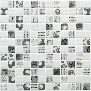 Skleněná mozaika Mosavit Graphics 30x30 cm mat KITCHEN