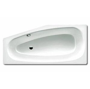 Asymetrická vana Kaldewei Mini 157x75 cm smaltovaná ocel pravá alpská bílá 224600010001