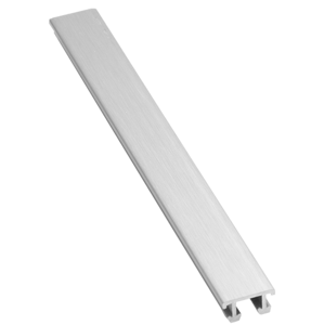 Lišta dekorační hliník elox stříbrná, délka 250 cm, výška 6,5 mm, šířka 12,5 mm, LALEXO12