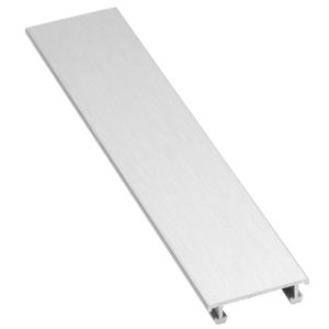 Lišta dekorační hliník kartáčovaný elox stříbrná, délka 250 cm, výška 6,5 mm, šířka 25 mm, LALEXO25K