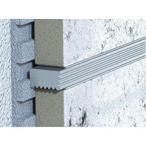 Lišta dekorační hliník kartáčovaný elox stříbrná, délka 100 cm, výška 5x9 mm, LVARIO59