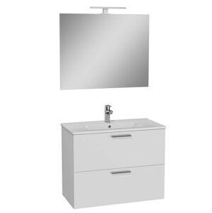 Koupelnová skříňka s umyvadlem zrcadlem a osvětlením Vitra Mia 79x61x39,5 cm bílá lesk MIASET80B