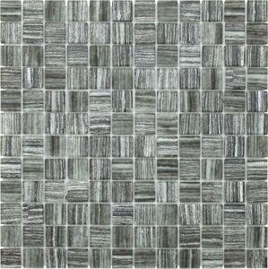 Skleněná mozaika Premium Mosaic šedá 30x30 cm mat / lesk MOS23TEXGY