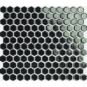 Keramická mozaika Premium Mosaic černá 26x30 cm lesk MOS26BK