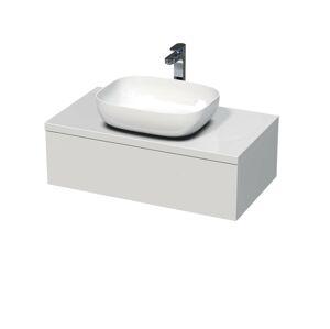 Koupelnová skříňka pod umyvadlo Naturel Ratio 90x26x50 cm bílá lesk ND901Z26PU.9016G