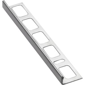 Lišta ukončovací L nerez, délka 250 cm, výška 4,5 mm, NRZ4250