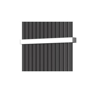 ISAN Madlo pro radiátor Octava, lesklý nerez O15MN87-14