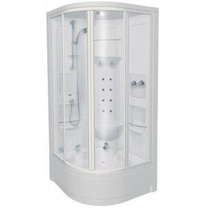 Sprchový box čtvrtkruh 100x100x229 cm Teiko PACIFIC bílá V271100N00T04071