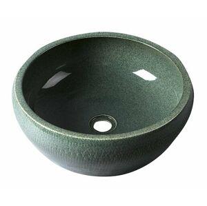 Umyvadlo na desku Sapho Priori 42x42 cm zelená bez otvoru pro baterii, bez přepadu PI013
