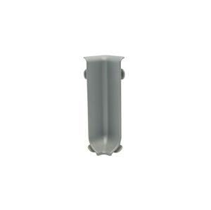 Roh k soklu vnitřní hliník elox stříbrná, výška 60 mm, RIZCTAA605