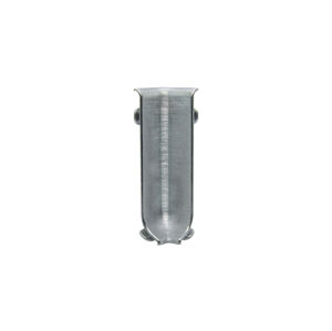 Roh k soklu vnitřní hliník kartáčovaný lesklý stříbrná, výška 60 mm, RIZCTBS605