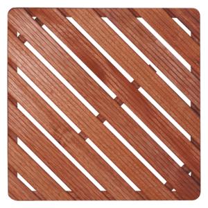 Sprchová rohož Aris dřevo ČTVEREC 65x65x4cm ROHOZ80Q