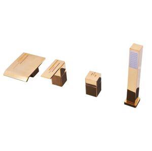 Vanová baterie RAV SLEZÁK se sprchovým setem zlatá ROYAL1073.0PZ