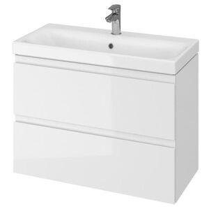 Koupelnová skříňka s umyvadlem Cersanit Moduo 79,5x57x37,5 cm bílá S801-225-DSM